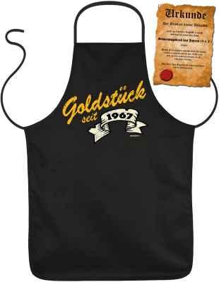 Schürze mit Urkunde: Goldstück seit 1967