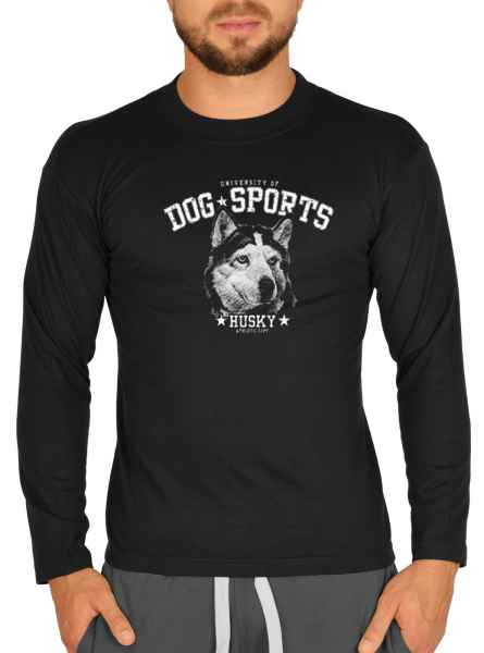 Langarmshirt Herren: University of Dog Sports - Husky