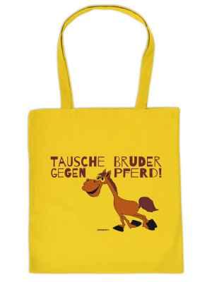 Stofftasche: Tausche Bruder gegen Pferd!