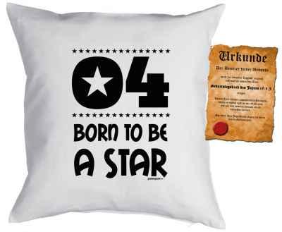 Kissen mit Füllung und Urkunde: 4 Born to be a star