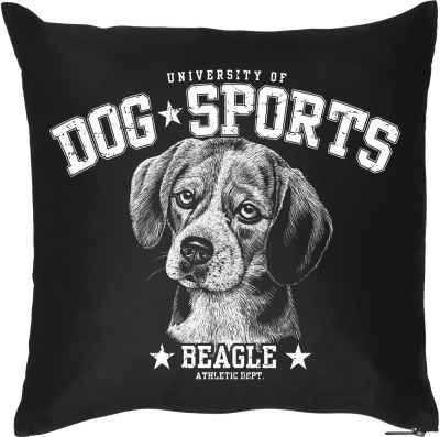Kissen mit Füllung: University of Dog Sports - Beagle