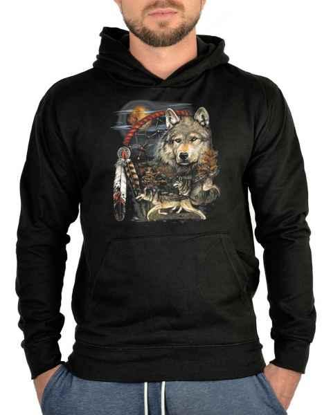 Kapuzensweater: Traumfänger mit Wölfen