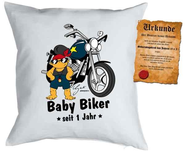 Kissen mit Füllung: Baby Biker seit 1 Jahren