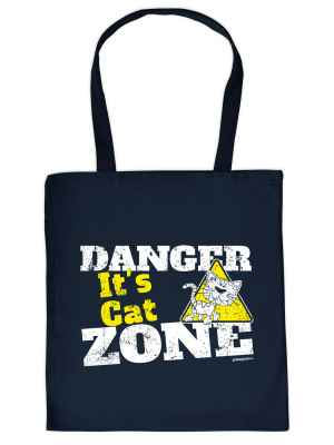 Stofftasche: Danger - It s Cat Zone