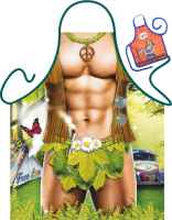 Motiv-Schürze mit kleiner Schürze: Hippie Man Grillschürze