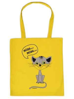 Stofftasche: Miau Miau?