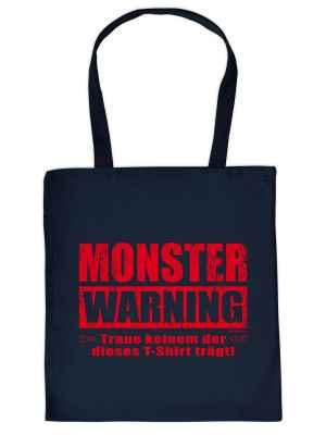 Stofftasche: Monster Warning - Traue keinem der dieses T-Shirt trägt!