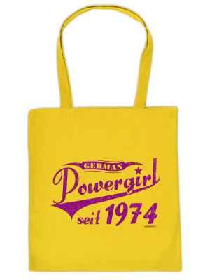 Stofftasche: German Powergirl seit 1974