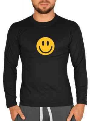 Langarmshirt Herren: Smiley Face