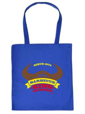 Stofftasche: since 1974 - 100 Prozent Barbecue King is born