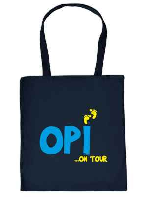 Stofftasche: Opi ? on Tour