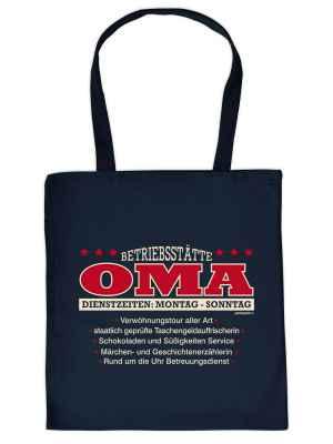 Stofftasche: Betriebsstätte Oma?