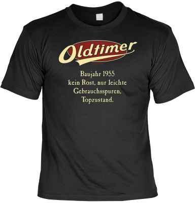 T-Shirt: Oldtimer Baujahr 1955 - kein Rost, nur leichte Gebrauchsspuren, Topzustand.