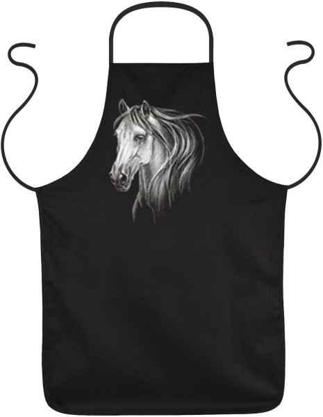 Schürze: weißes Pferd - Schimmel