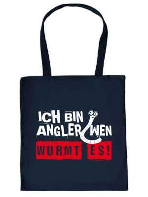 Stofftasche: Ich bin Angler, wen wurmt es!