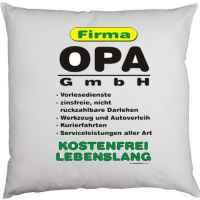 Kissen mit Füllung: Firma Opa GmbH ? kostenfrei, lebenslang