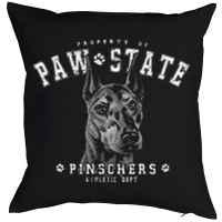 Kissen mit Füllung: Property of Paw State - Pinschers - Athletic Dept.