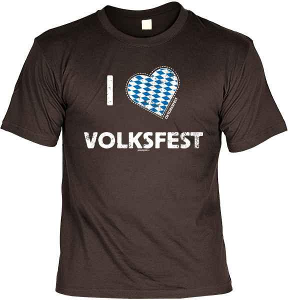 T-Shirt: I love Volksfest