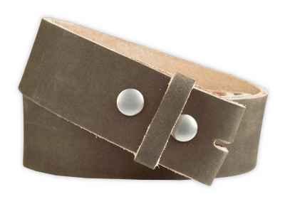 Druckknopfriehmen: Vollrindleder 40mm in khaki