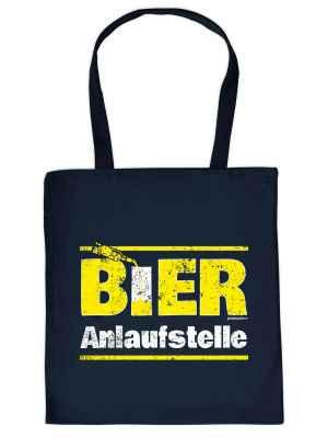 Stofftasche: Bier-Anlaufstelle