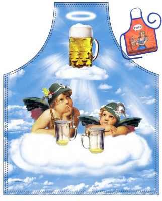 Motiv-Schürze mit kleiner Schürze: 2 Engel im Bierhimmel
