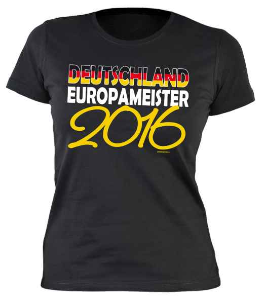 Damen T-Shirt Deutschland Europameister 2016