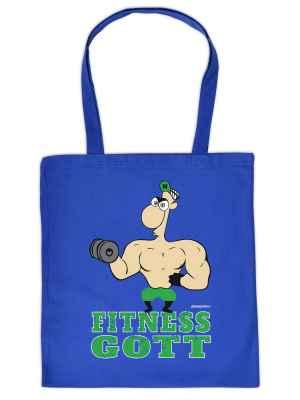 Stofftasche: Fitness Gott