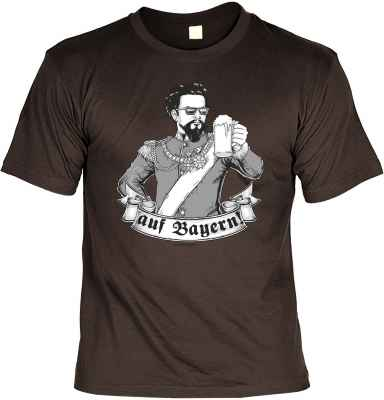 T-Shirt: König Ludwig - auf Bayern!