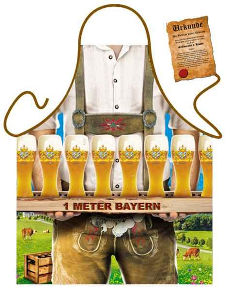 Themenschürze mit Gratis Urkunde: Ein Meter Bayern