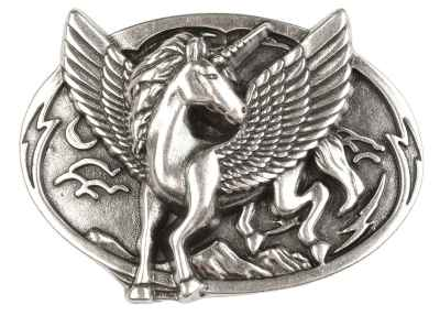 Gürtelschliesse: Pferd mit Flügel 7,8 x 6,4 cm 40 mm