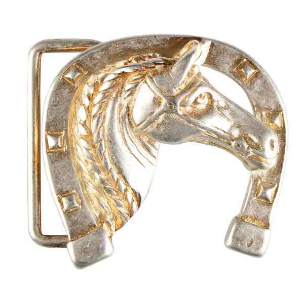 Gürtelschliesse: Hufeisen Pferd 5,5 x 5 cm