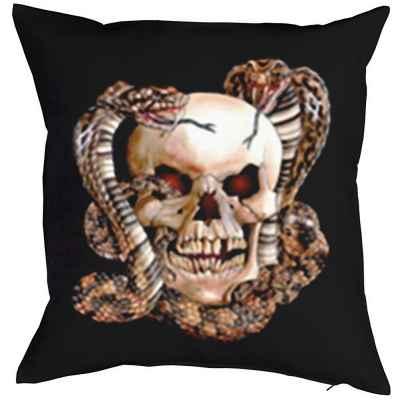 Kissenbezug: Skull with Snakes