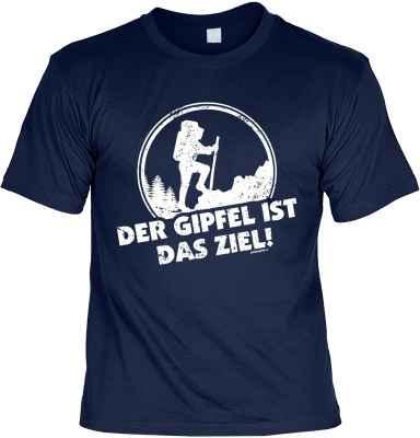 T-Shirt: Der Gipfel ist das Ziel!