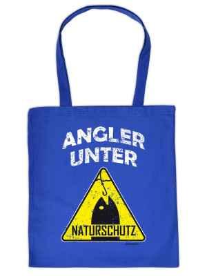 Stofftasche: Angler unter Naturschutz