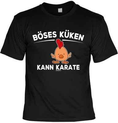 T-Shirt: Böses Küken Kann Karate