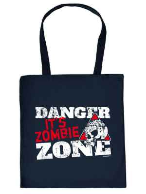 Stofftasche: Danger - It s Zombie Zone