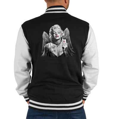 College Jacke Herren: Marilyn Monroe mit Flügel