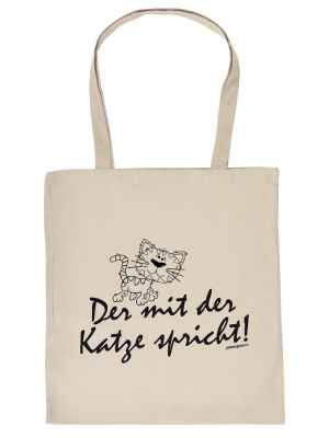 Stofftasche: Der mit der Katze spricht!