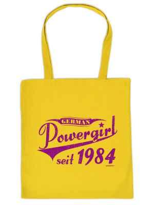 Stofftasche: German Powergirl seit 1984