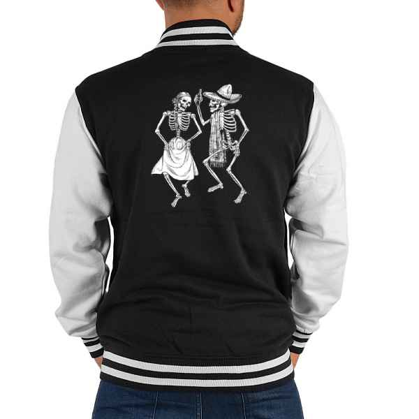 College Jacke Herren: Dancing Skeletons