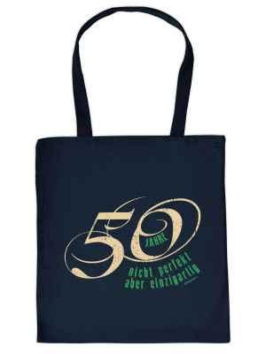 Stofftasche: 50 Jahre - nicht perfekt aber einzigartig