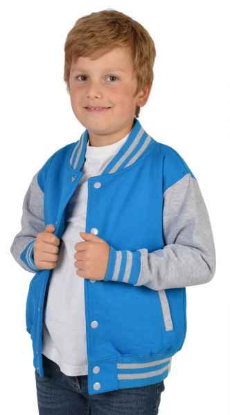 College Jacke Jungen Kinder: Veri Farbe: türkis