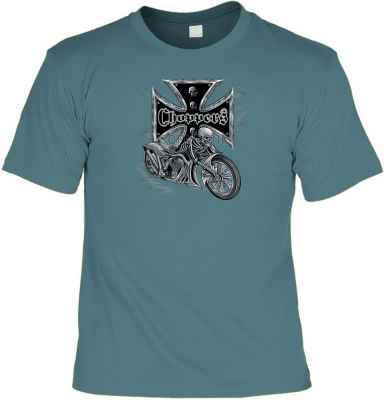 T-Shirt: Choppers - Ghostrider Farbe: runkelrot