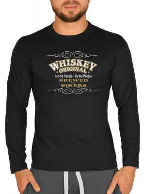 Langarmshirt Herren: Whiskey original - For the People - By the People - Brewed for Bikers