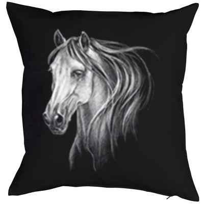 Kissenbezug: weißes Pferd - Schimmel