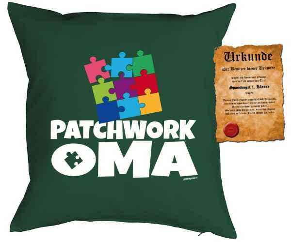 Kissenbezug mit Urkunde: Patchwork Oma