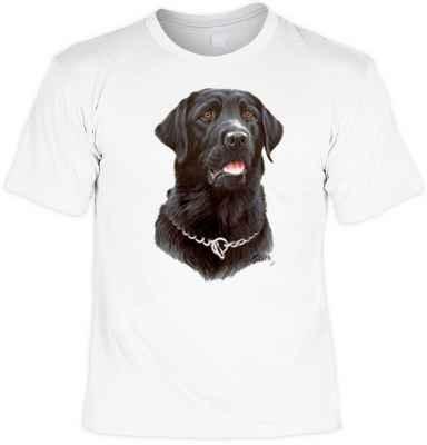 T-Shirt: schwarzer Labrador