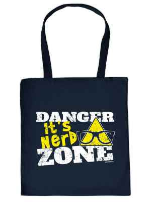 Stofftasche: Danger - It s Nerd Zone