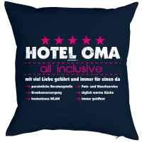 Kissen mit Füllung: Hotel Oma - all inclusive - mit viel Liebe geführt und immer für einen da?