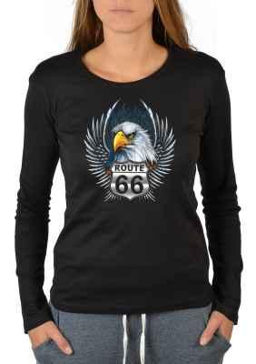 e5debff7d Shirt Fun 66Goodman Shirts Route Langarmshirt DamenAdler T HWE9ID2Y